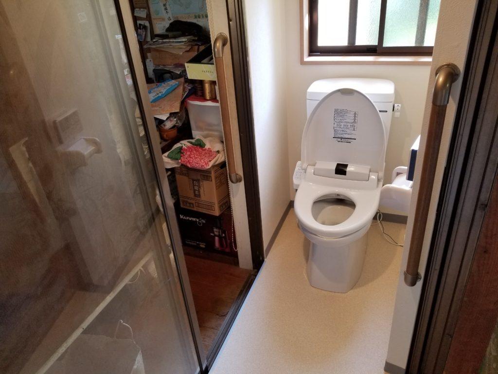 和室にトイレを作るリフォームの施工後