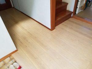 廊下の床リフォームの施工後