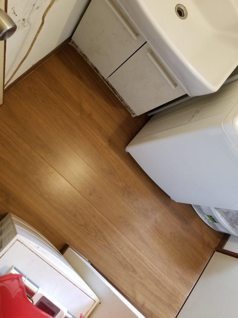 洗面所の床張替えの施工後