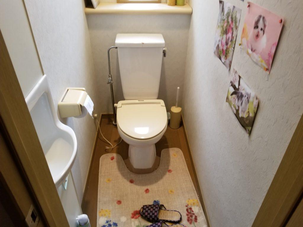 トイレの交換リフォームの施工前