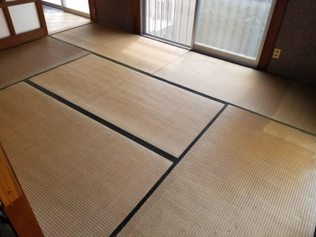 和室の床の施工前